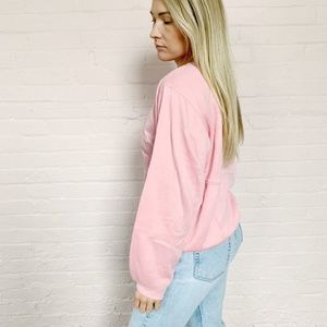 1980s pastel pink comfy pullover sweater